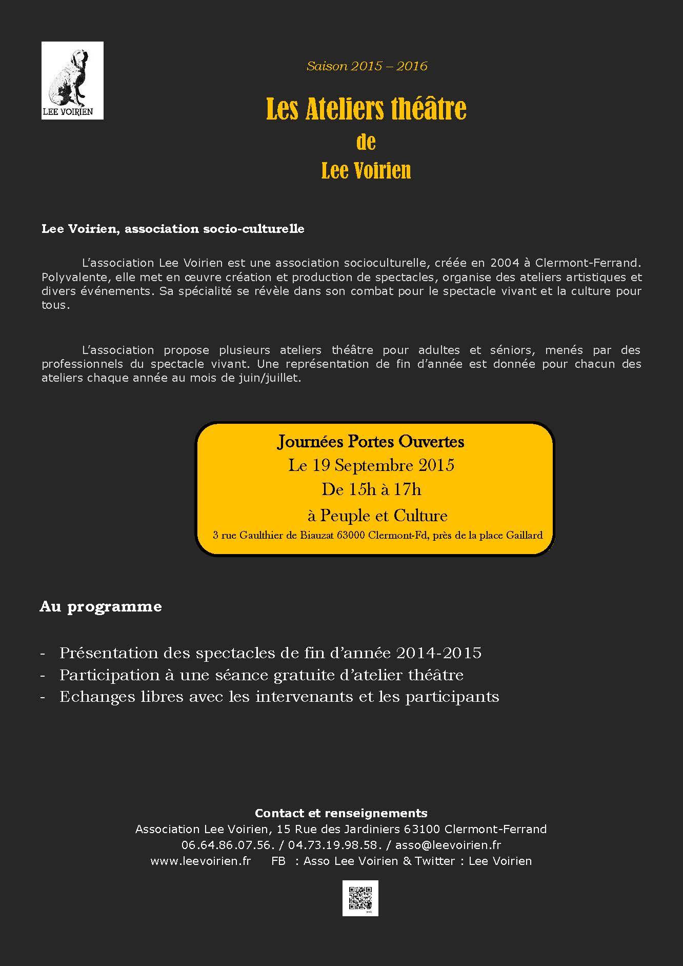 Ateliers théâtre saison 15-16